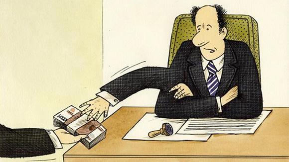 коррупция, карикатура